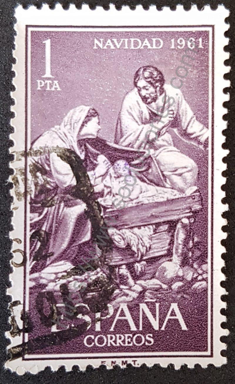 00906 sello españa 1961 navidad