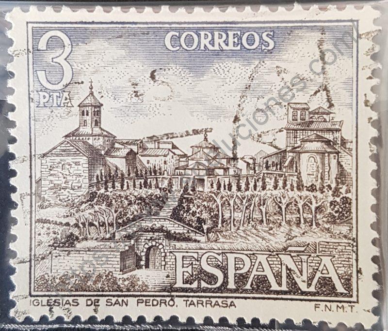 00907 sello españa 1975 iglesias de san pedro