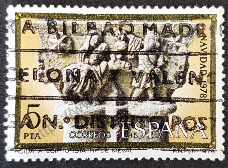 sello españa navidad 1978 huida