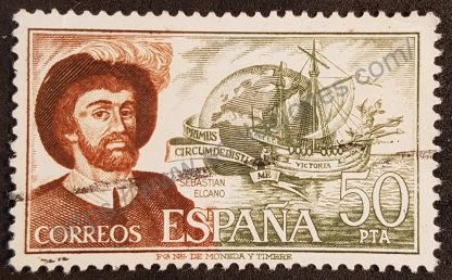 Sello España 1976 – Juan Sebastián Elcano