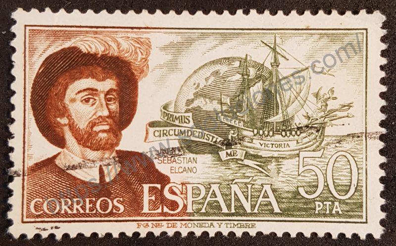 Sello España 1976 - Juan Sebastián Elcano