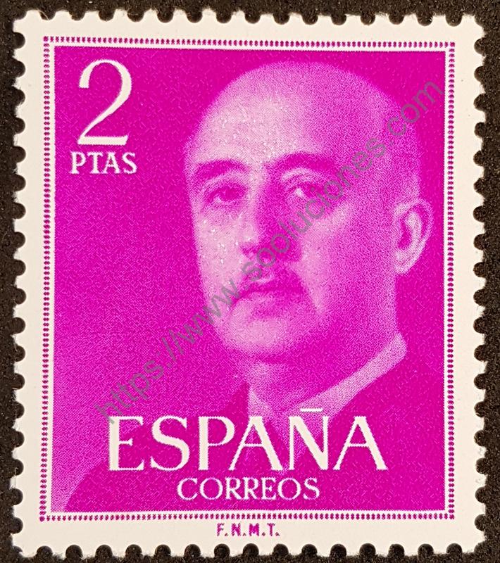 sello españa 1956 franco 2ptas