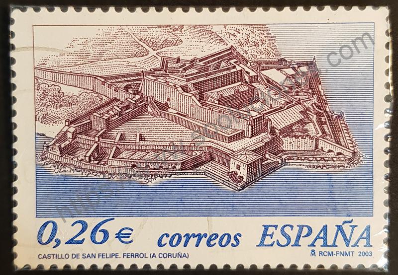 sello españa 2003 castillo san felipe