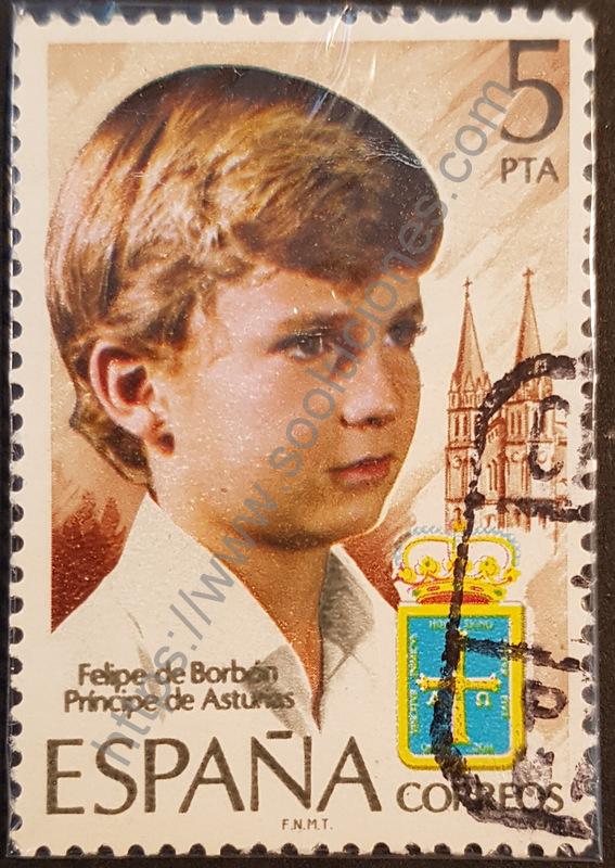sello españa 1977 felipe de borbon