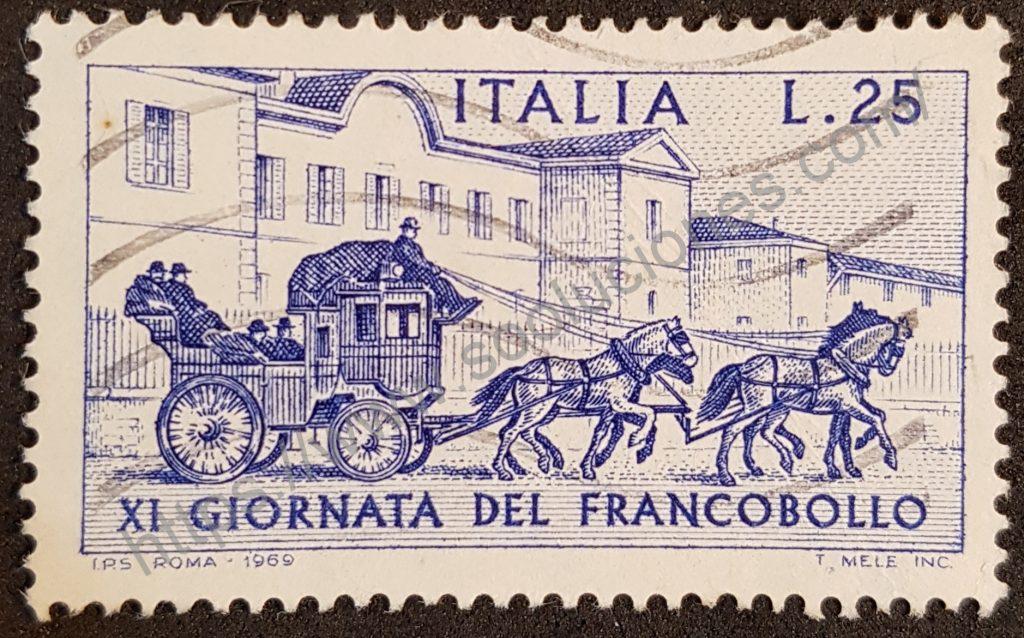 00909 sello italia 1969 dia del sello