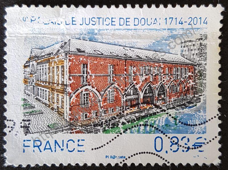 sello francia 23014 palacio de douais