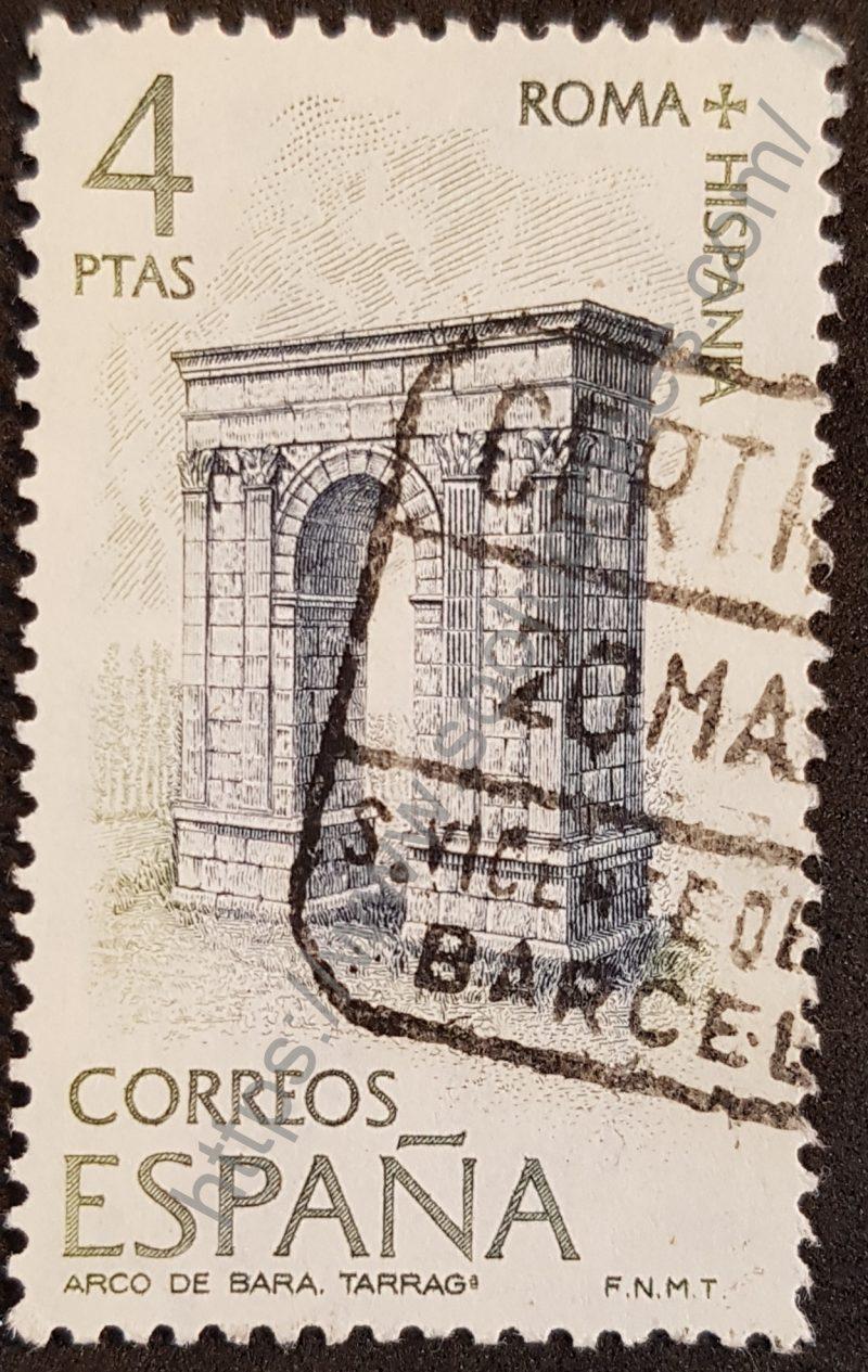 sello españa 1974 arco de bara tarragona