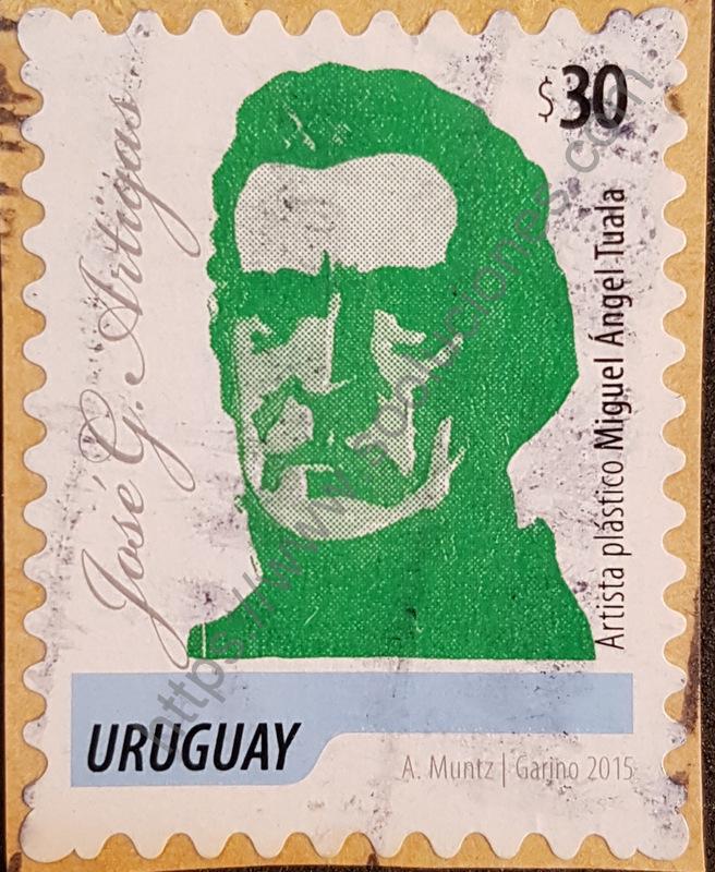Sello Uruguay 2015 José Gervasio Artigas