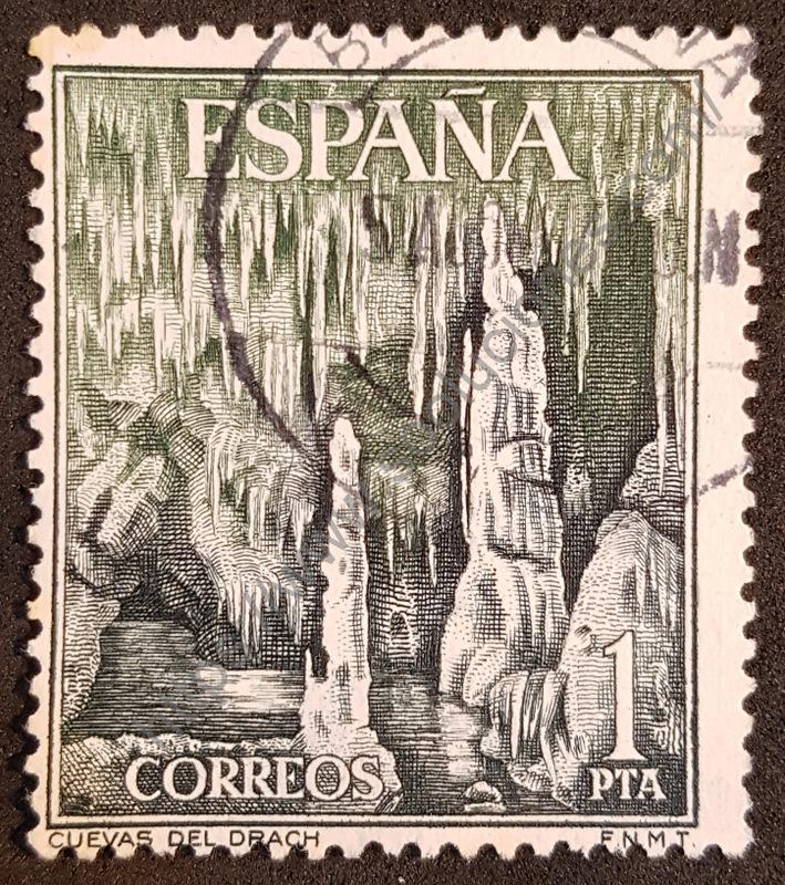 Sello España 1964 Cuevas del Drach
