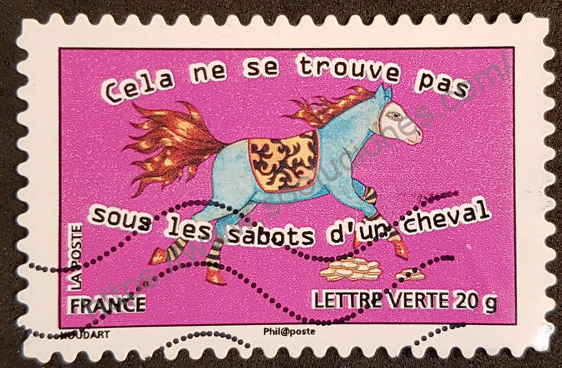 sello francia 2013 no esta bajo los cascos del caballo