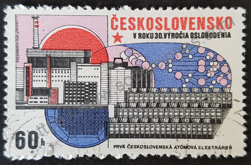sello checoslovaquia central nuclear 1975