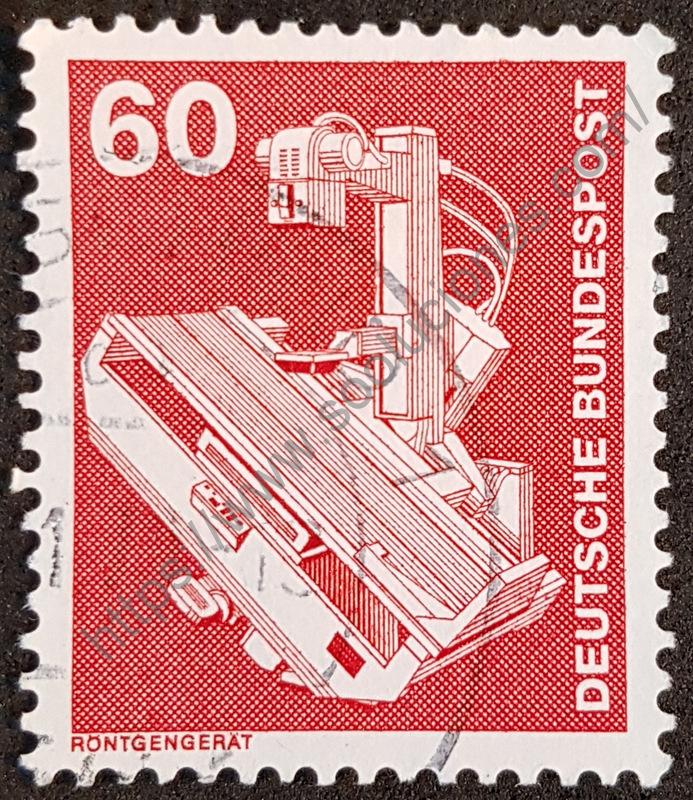 sello alemania 1978 maquina rayos x