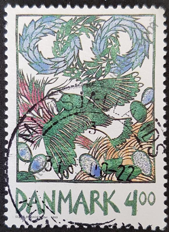 sello Dinamarca 1999 avefria - primavera