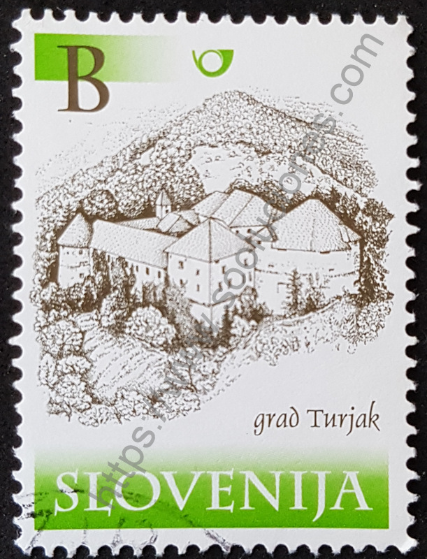 sello eslovenia 2001 castillo Turjak