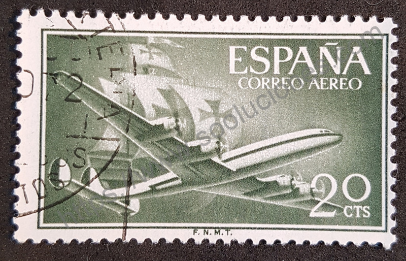 sello españa 1956 superconstellation