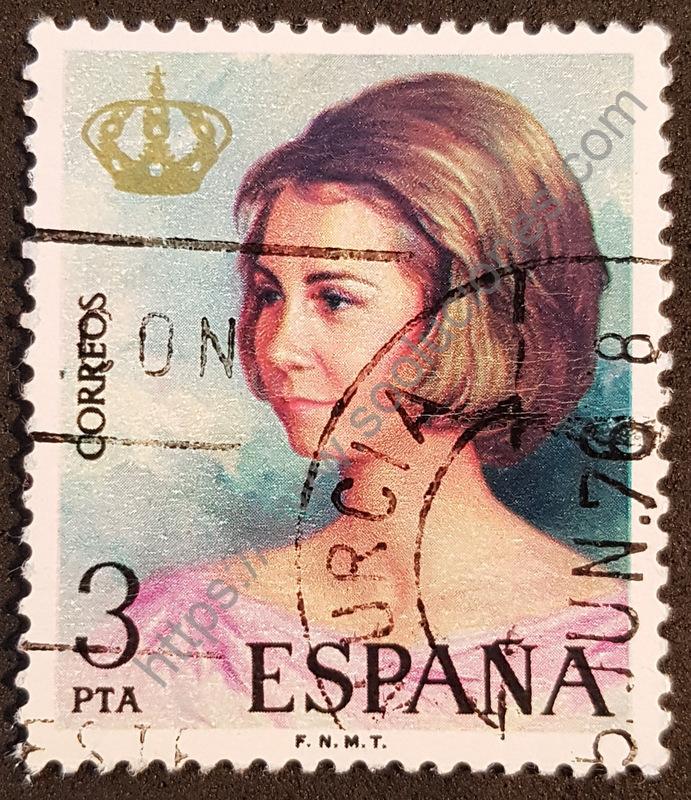 sello españa 1975 reina sofia