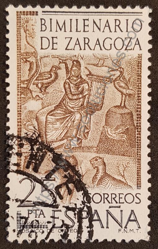 sello españa 1976 zaragoza orfeo