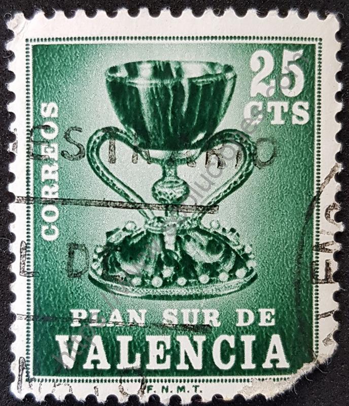 sello españa 1968 valencia plan sur