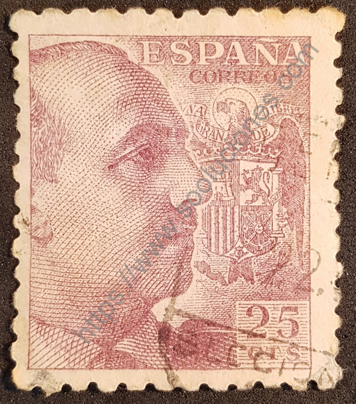 sello españa 1939 franco 25cts