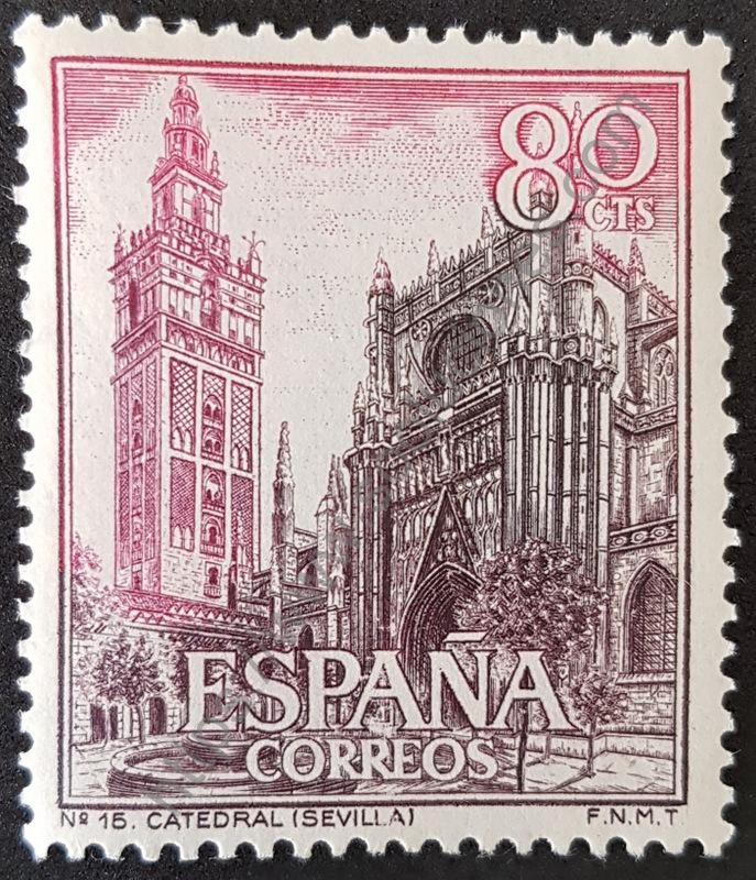 sello españa 1965 catedral sevilla