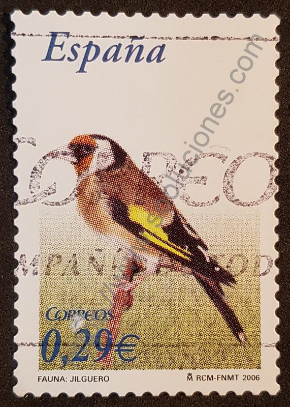 sello españa 2006 jilguero