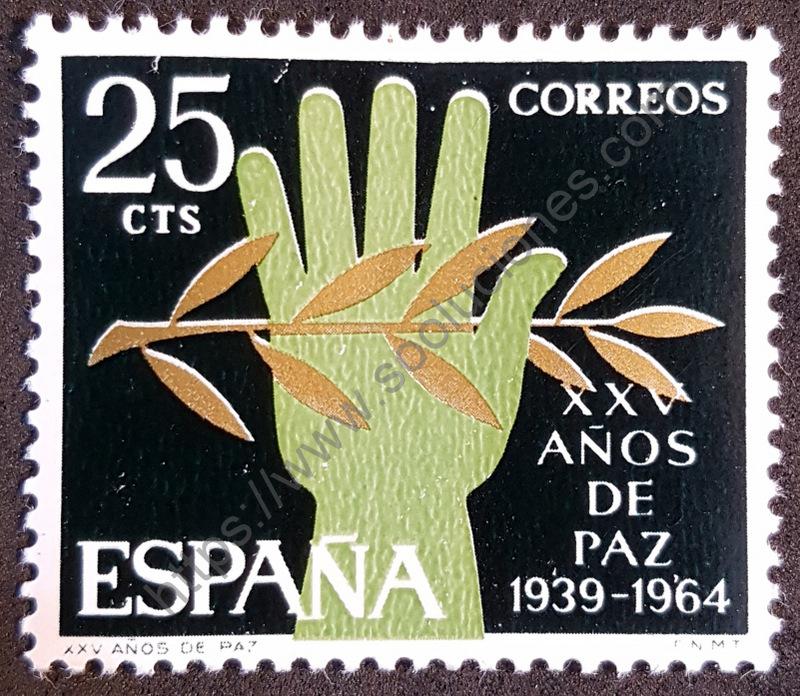 sello españa 1964 25 años paz