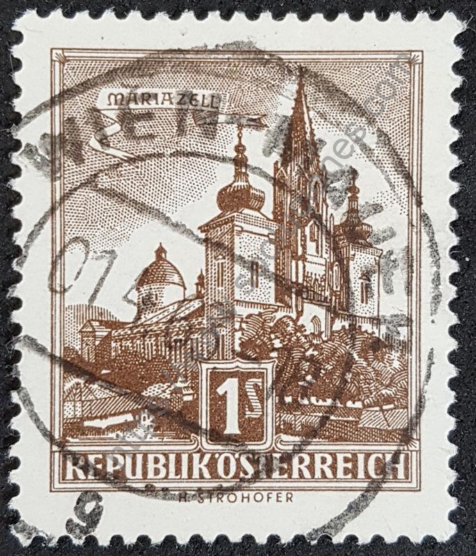 Sello-Austria-1959-Basilica-de-Mariazell