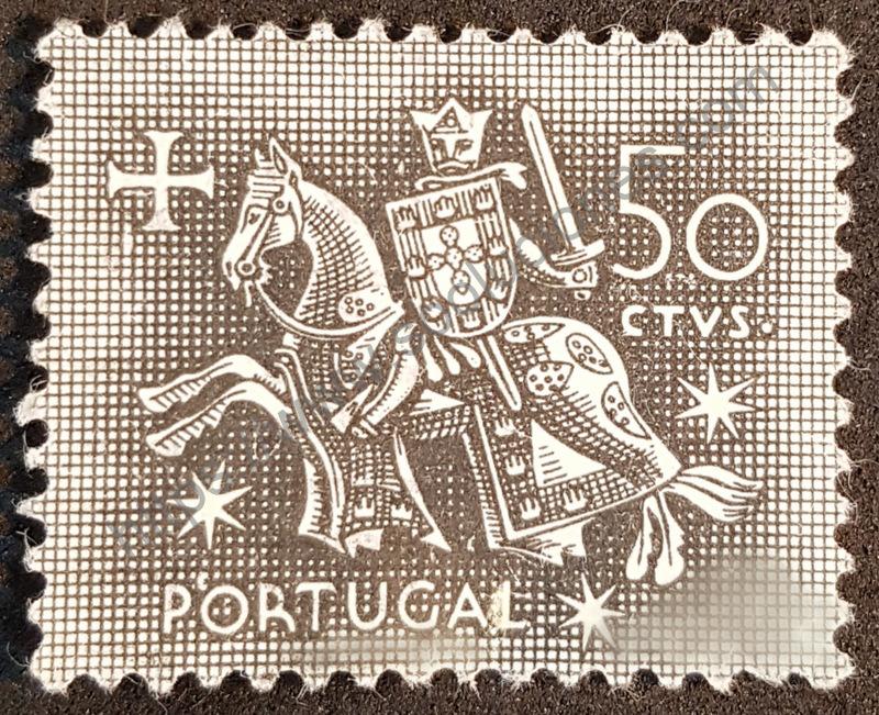 Estampilla de rey Dionisio I de Portugal