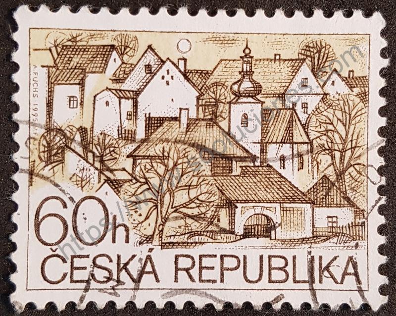 Estampilla Serie Turismo República Checa 1995