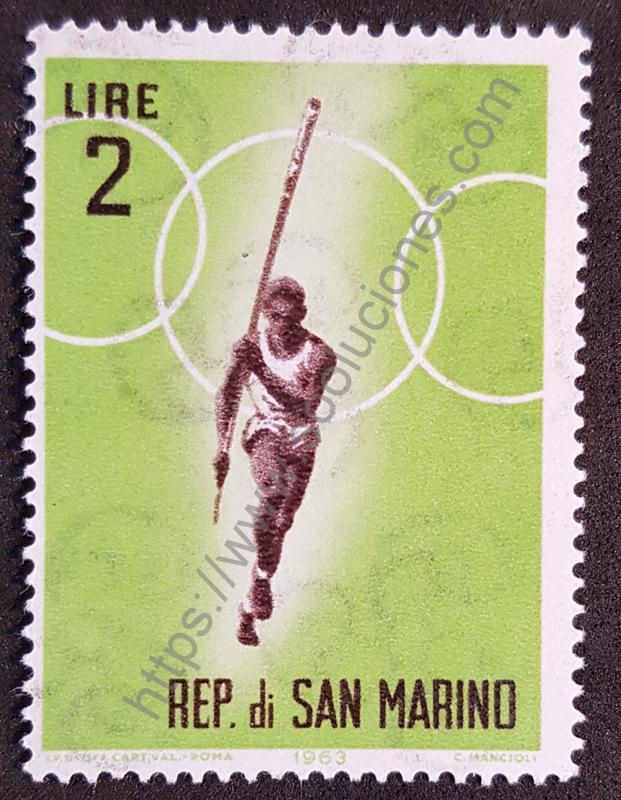 Estampillas San Marino Juegos Olímpicos Tokio 1964
