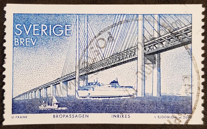 Puente de Oresund Suecia estampilla del año 2000
