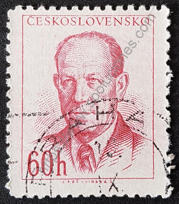 Presidente Antonín Zápotocký estampilla de 1953