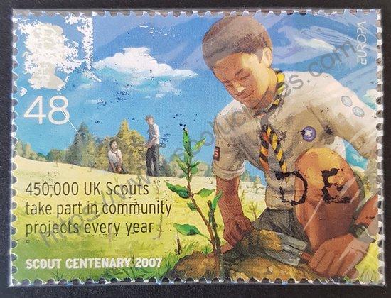 Sello: 1er. centenario Scout Gran Bretaña 2007