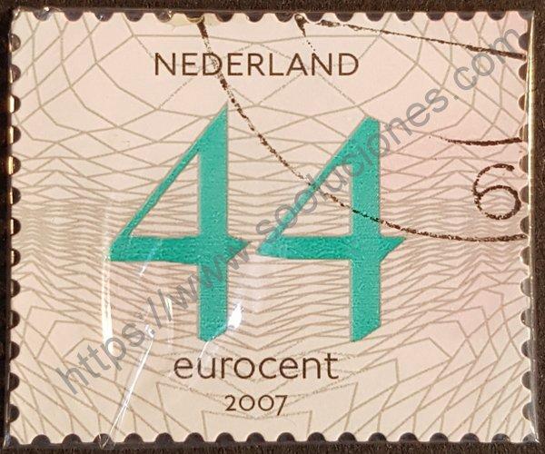Estampilla de números Holanda 44 año 2006