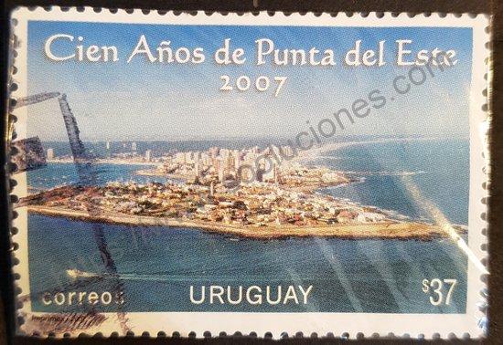 Sello: Uruguay 2007 Centenario Punta del Este