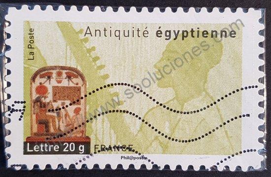 Sello: Francia 2007 arpista egipcio serie antigüedades