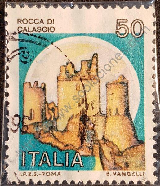Castillo de Calascio sello de 1980 Italia