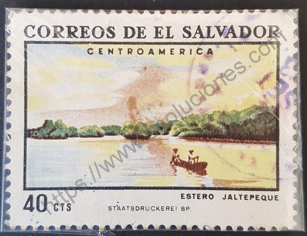 Estampilla de Estero Jaltepeque El Salvador 1969