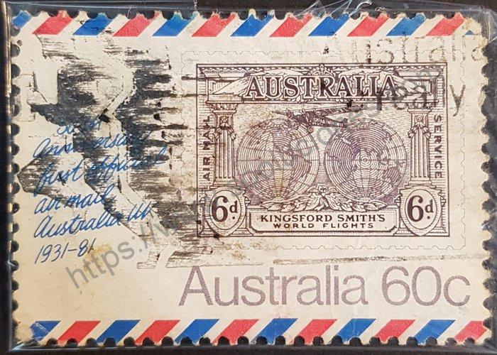 50 aniversario Primer correo aéreo oficial Australia-Reino Unido 1931/1981 (Australia)