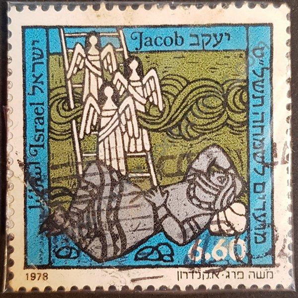 Estampilla Jacob patriarca de Israel año 1978