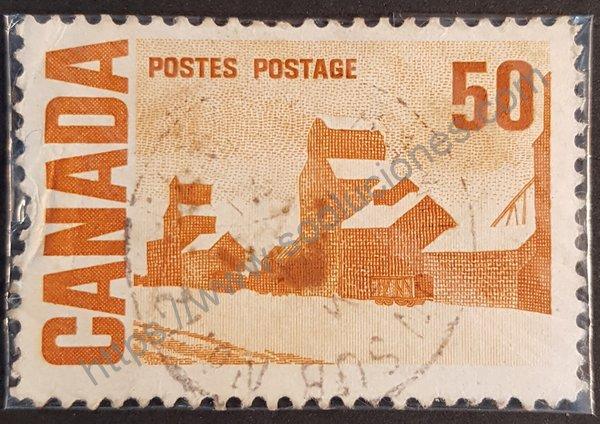 Estampilla centenario de Canadá Granero año 1967