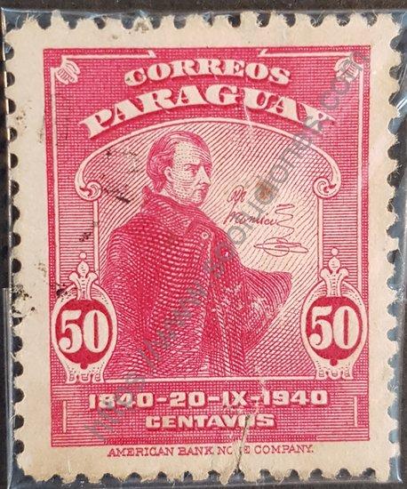 Sello Paraguayo año 1940 Dr. José Francia
