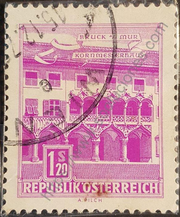 Estampilla Casa Kornmesser en Austria 1962