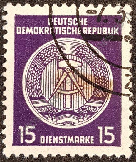 Sello: República Democrática de Alemania Martillo y compás