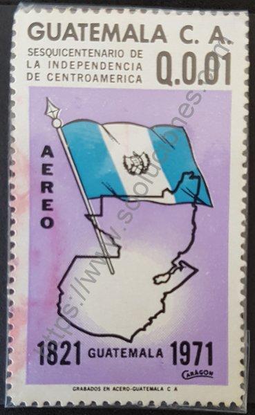 Sello Guatemala aniversario independencia centroamerica