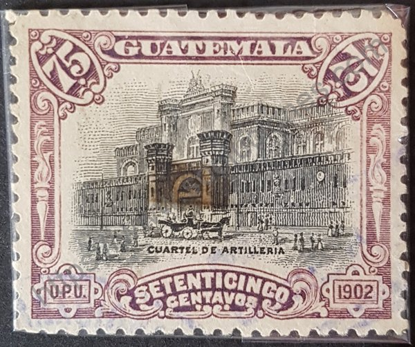 Sello cuartel de artillería Guatemala 1902