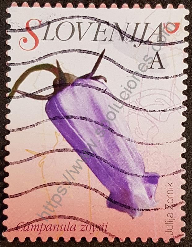 Campanula Zoysii estampilla de Eslovenia año 2009