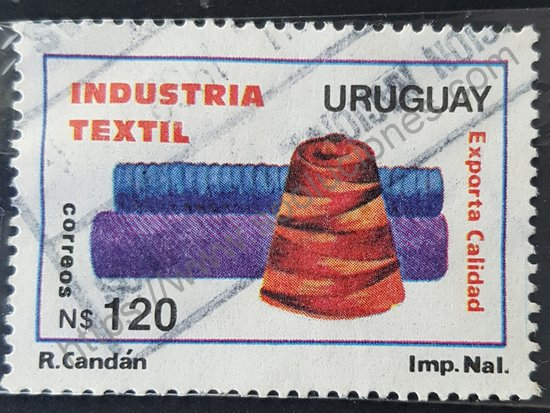 Estampilla de la Industria Textil Uruguay 1991