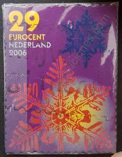 Sello de Holanda motivo navidad del año 2006