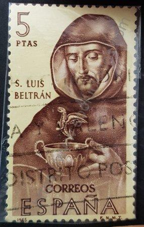 Sello San Luis Beltrán emisión España 1965